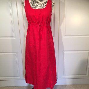 Jackpot LINEN maxi dress with drawstring waist M